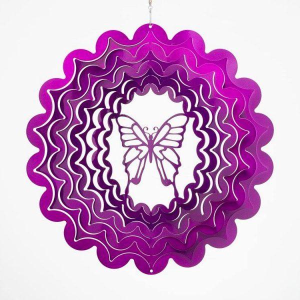 windspinner butterfly small purple