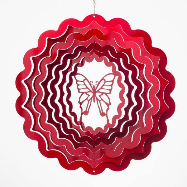 windspinner butterfly small red
