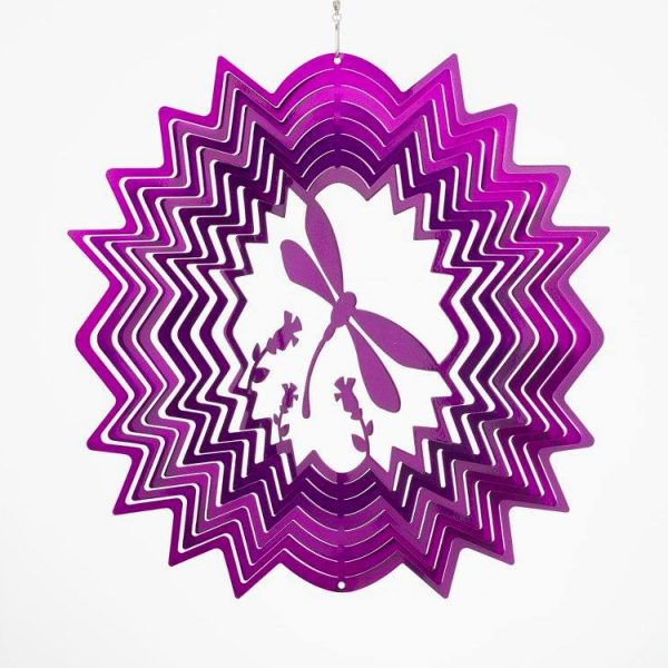 windspinner dragonfly small purple