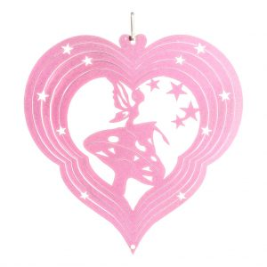 Pink fairy wind spinner 15cm