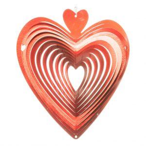 Red heart wind spinner 30cm