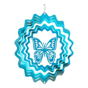 Blue butterfly wind spinner 15cm